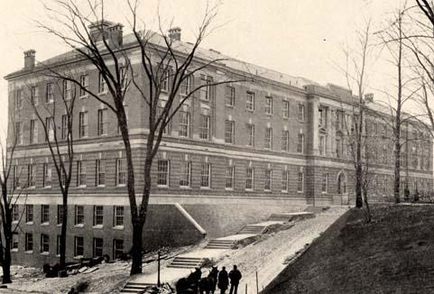 Exterior view of Russell Sage Laboratory (southwest elevation, circa early 1900s)