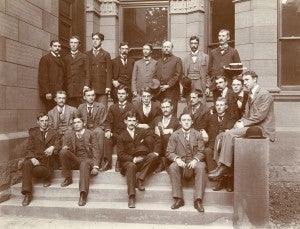Class of 1893 : top row - Palmer C. Ricketts, 4th from left and President John H. Peck, 3rd from right