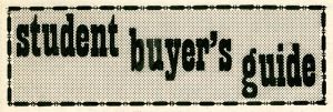 Student Buyer's Guide masthead, October 28, 1971