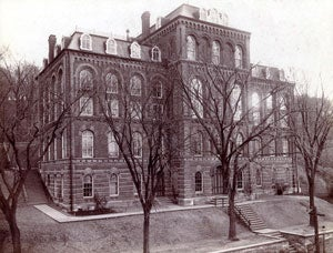 The Main Building was the first building designed and built for the Rensselaer Institute.