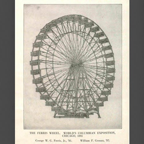 Drawing of The Ferris Wheel from the World's Fair