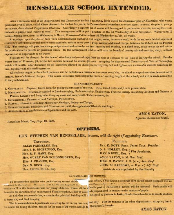 Mathematics Synopsis Circular, 1834