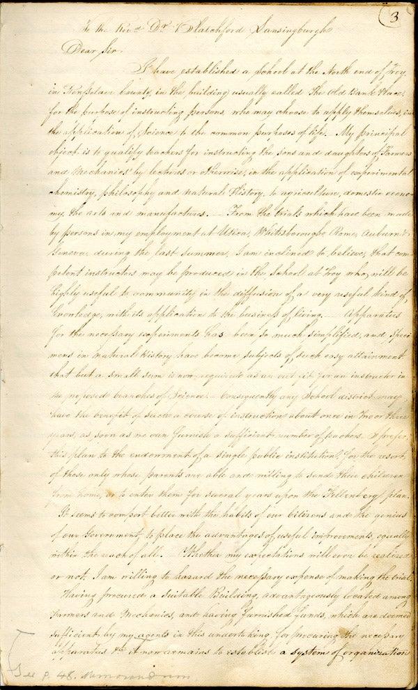 Van Rensselaer to Blatchford, Nov. 5, 1824 [copy]