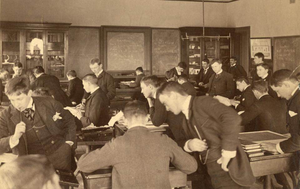 Classroom of students in the Main building.