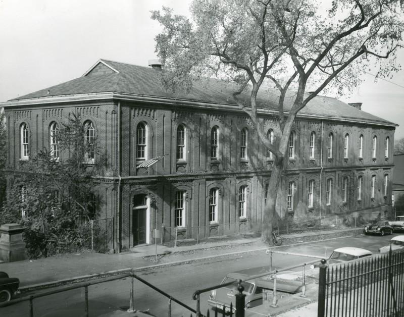 Circa 1950, showing the Winslow building's current length of 142 feet.