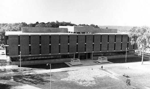 Exterior view of the Cogswell Laboratory building (low aerial view of north elevation, date unknown)