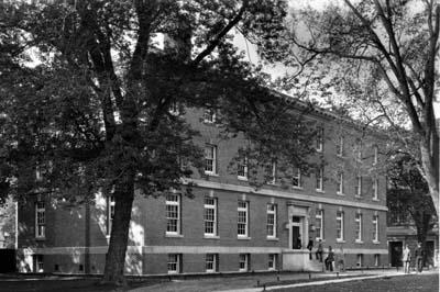 Exterior view of the then-new Rensselaer Union Club House (northeast elevation, date unknown)
