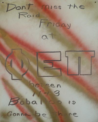 Phi Epsilon Pi, Friday Raid and Boballo