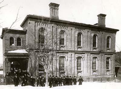 Exterior of the Rensselaer Winslow Building, circa 1866