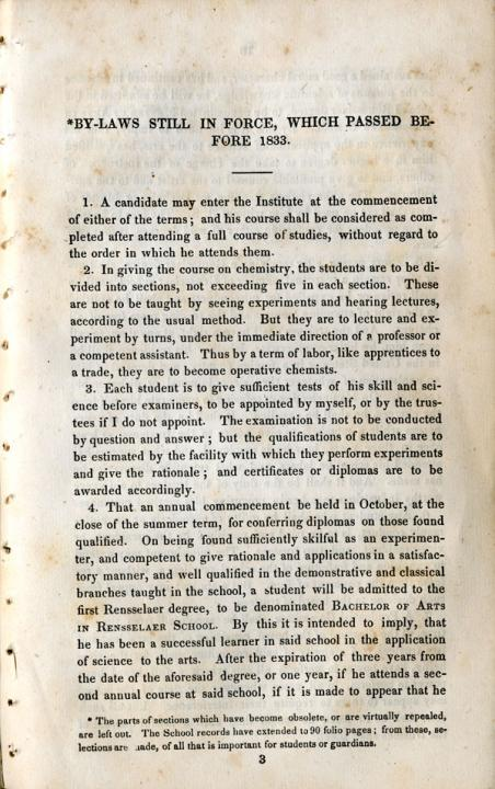 By Laws of the Rensselaer School, 1833 - page 4