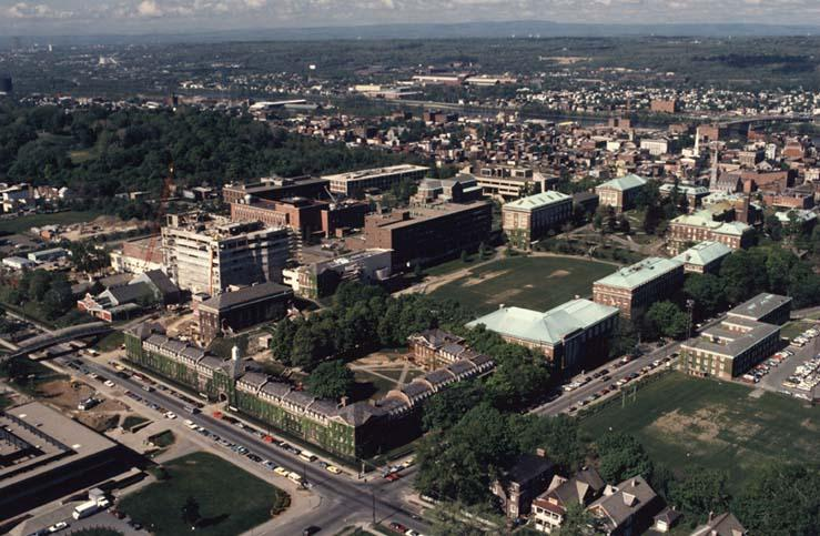 This view shows the Center for Industrial Innovation under construction. Also notice the renovated RPI Playhouse on the left.