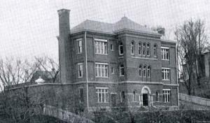 Exterior of the Proudfit Laboratory (northwest elevation, date unknown)