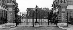 The remodeled Tillinghast Gate, also viewed from Sage Avenue (date unknown)